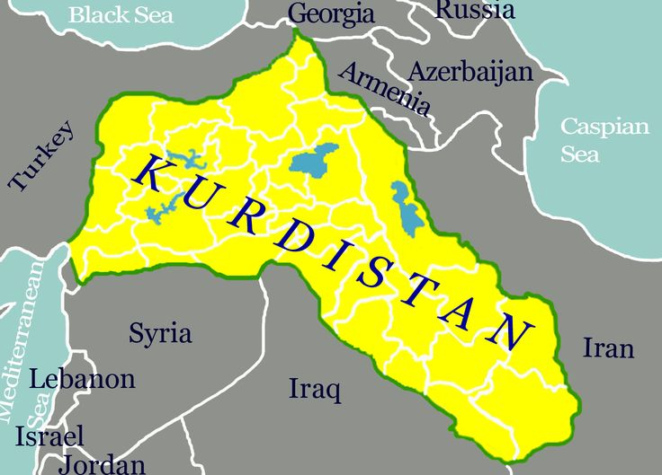 Kurdistan karta