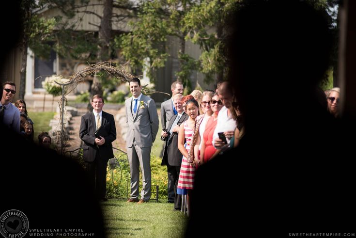Rockway Vineyards Wedding, Niagara - The bride about to walk down the aisle. #sweetheartempirephotography