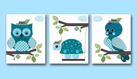 wall border with turtles and owls for baby room | Add it to your favorites to revisit it later.