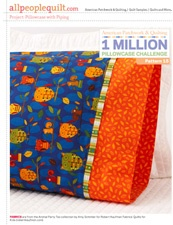 great free patterns for pillow cases. Good cause too.