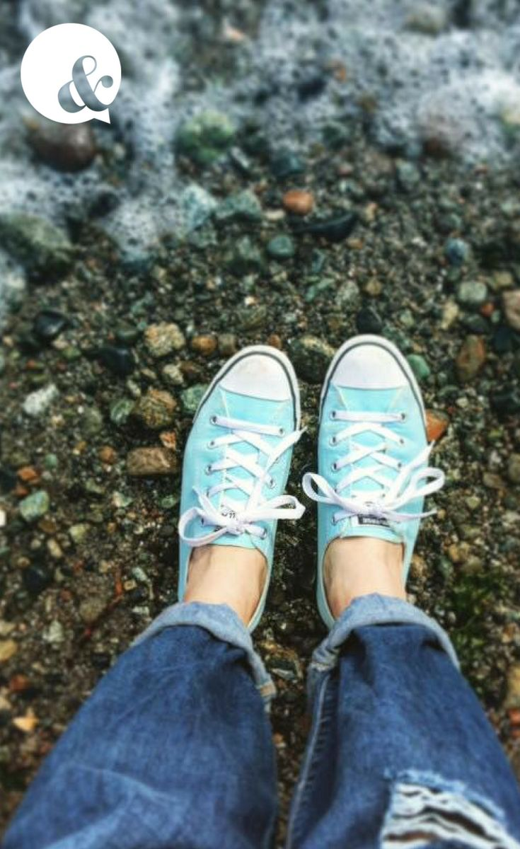 Where Deidre's (Ampersand Social Media's founder) ripped jeans and blue converse shoes took her: Seaglass Beach, Sidney, British Columbia!