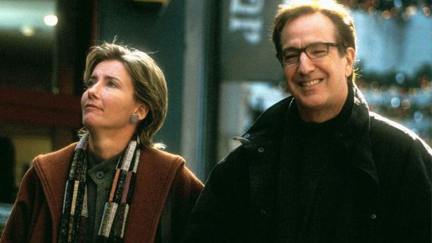 Such a wonderful actor... so sad... f*ck cancer!......(Emma Thompson and Alan Rickman in Love, Actually)