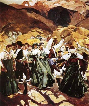 Aragón. Baile de la jota por un grupo de ansotanos, 1914. Joaquín Sorolla