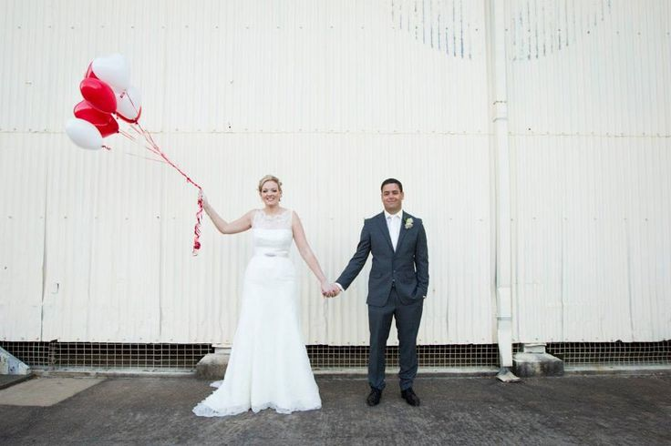 Balloons make anywhere our happy place - Matthew and Andrea