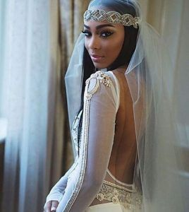 Wedding+Hairstyles+For+Black+Women+Long+Straight+Veil