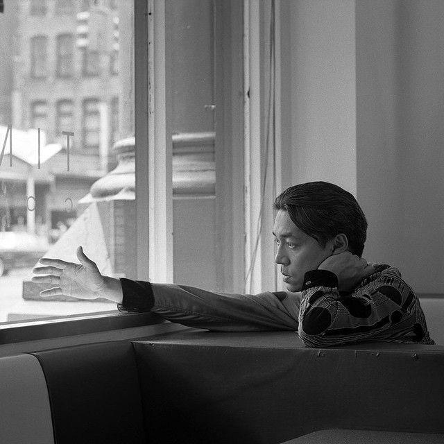 Snowy day, going through the archives again. Ryuichi Sakamoto, 1991, NYC. Photo by me. #jeannettemontgomerybarron#ryuichisakamoto #1991 #nyc