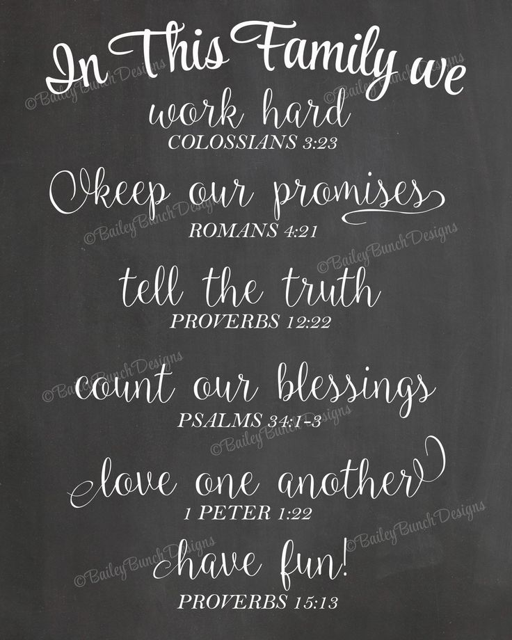 Scripture Wall Art, In This Family, Home Decor   INSTANT DOWNLOAD  IDFAMCLK0520 Part 70