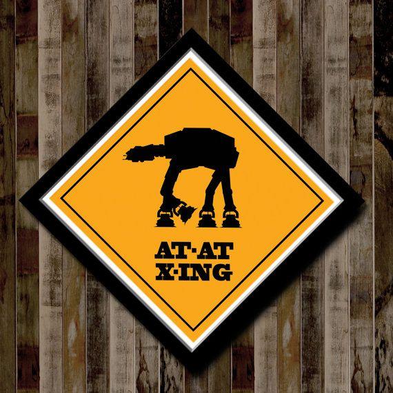 Star Wars Atat Crossing Poster 13 X 13 Home Decor