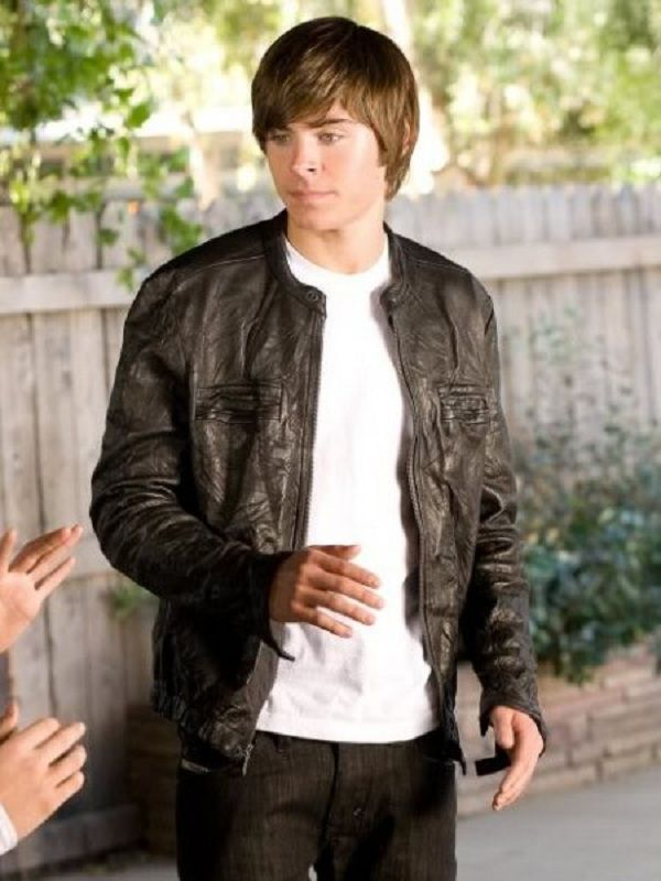 17 Again Mike O Donnell Zac Efron Leather Jacket Celebrities Leather Jacket Leather Jacket Celebrity Jackets