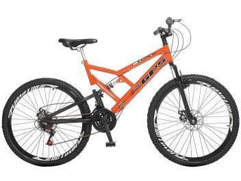 Bicicleta Colli Bike GPS Mountain Bike Aro 26 - 21 Marchas Dupla Suspensão Freio a Disco