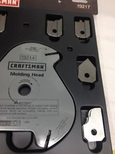 Craftsman Molding Head Cutter Blades Wow Sears Craftsman