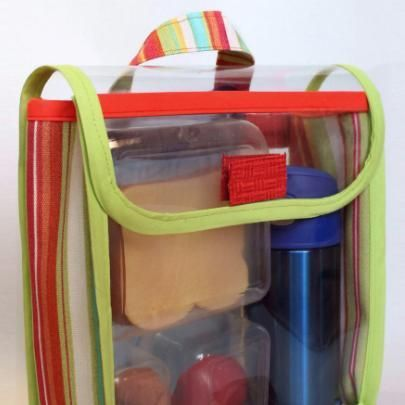 This is a great bag for little ones: it opens easily, has a wide mouth that's effortless to fill, and the clear vinyl lets you see the conte...