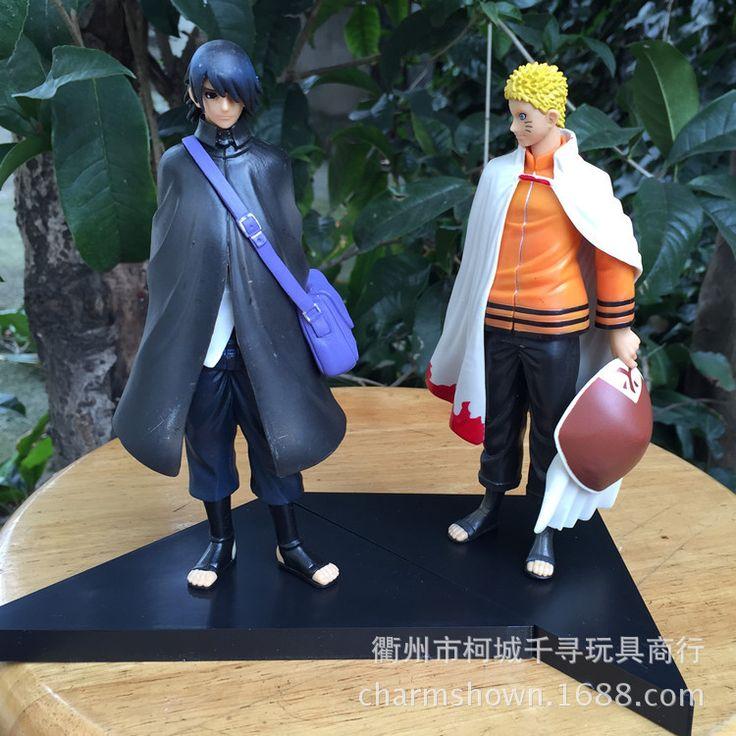 2pcs/set 16cm Naruto Uzumaki Naruto + Uchiha Sasuke Action Figures Anime PVC brinquedos Collection Model toys Free shipping