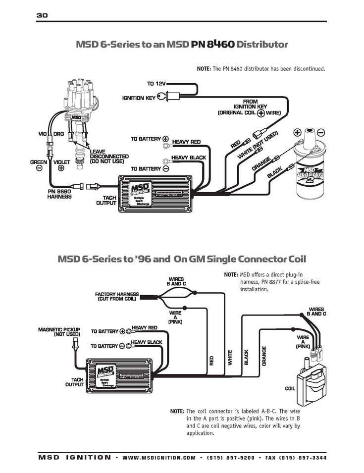 Msd Ignition Wiring Diagrams In Msd Distributor Diagram On