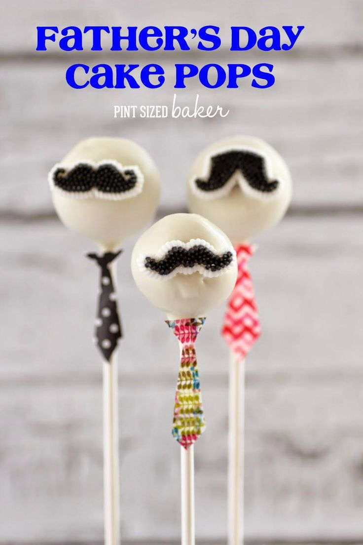 Father's Day Cake Pops Colourful ties and black mustaches By pint sized baker