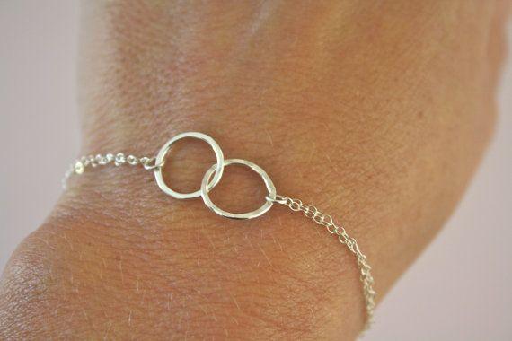 Eternity Bracelet, Silver Bracelet, Bridesmaid Gift, Bridal Jewelry, Everyday Bracelet, Valentines day gift on Etsy, $30.00