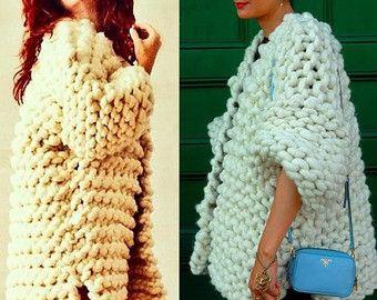 CoatsWomen's fashion Sweatshirt Irish crochet Hoodie by AlisaSonya