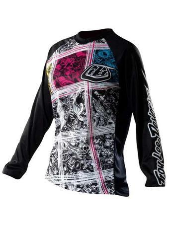 Troy Lee Designs Black 2011 Rev Womens MX Jersey   Troy Lee Designs   FreestyleXtreme