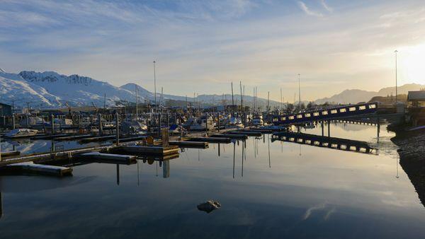 Valdez harbour Alaska