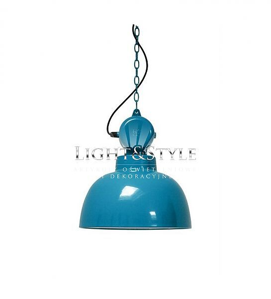 HK Living Lampa wisząca Factory Niebieski-morski VAA4015 www.kopalniaswiatla.pl