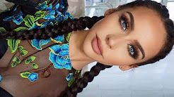 how to double dutch braid your own long hair for beginners – YouTube