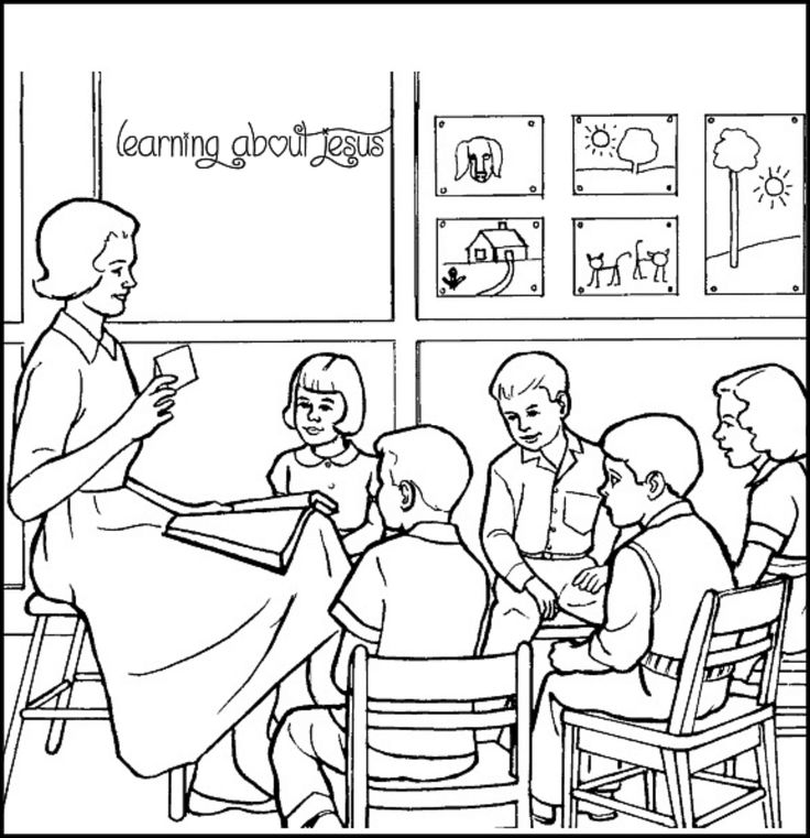 Learning about Jesus coloring page