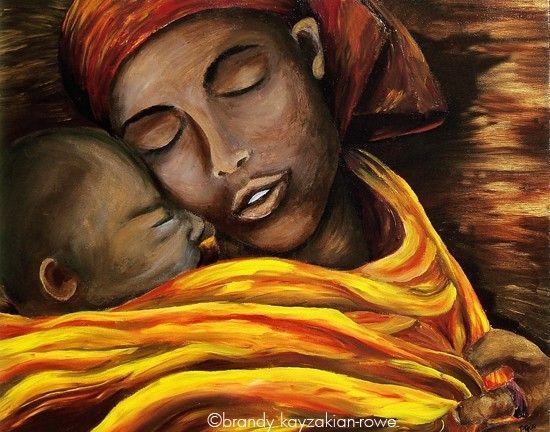 Hush Little One art print  African American by BrandyKayzakianRowe on etsy.