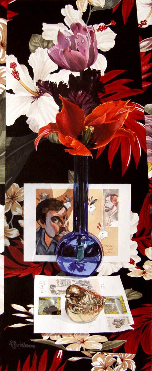 'Gauguin with Brass Bird' by Vivian Thierfelder at Mayberry Fine Art