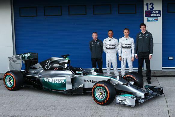 Mercedes launches its 2014 W05 Formula 1 car - F1 news - AUTOSPORT.