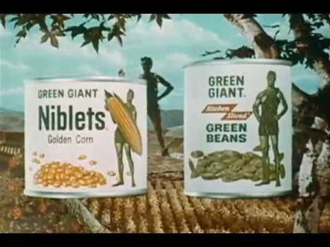 1960s Green Giant TV commercial. My FAVORITE commercial when I was little...HO HO HO Green Giant!!!