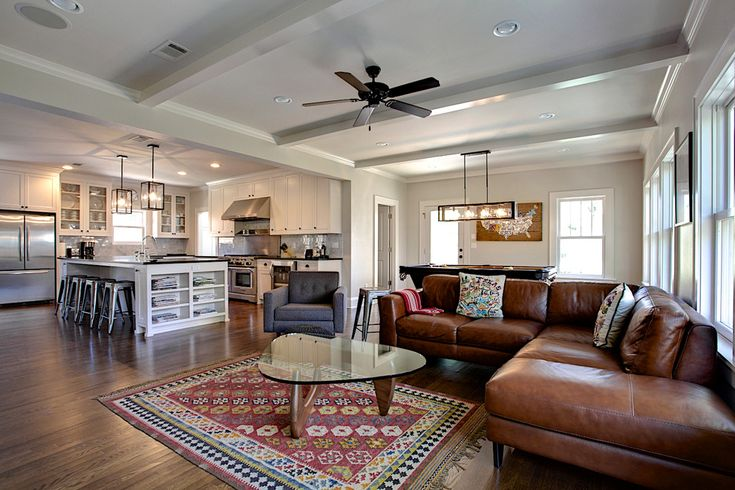 Family Room With Brown Leather Sofa Part - 36: Leather Seating - The Versatility And Allure Of Leather Seating | Interior  | Pinterest | Open Concept, Contemporary Family Rooms And Chesterfield Sofa
