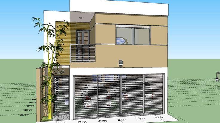 Como dise ar una casa de 7x15 mts de terreno - Como disenar planos de casas ...