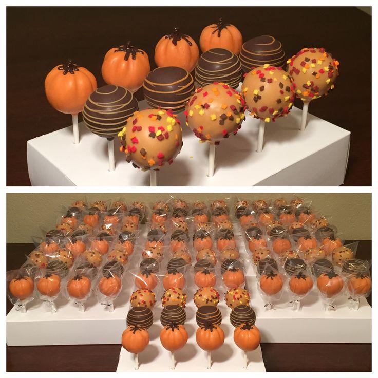 Fall cake pops. Made November 2016.