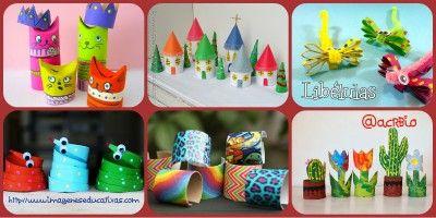 Manualidades con rollos de papel higiénico Collage2