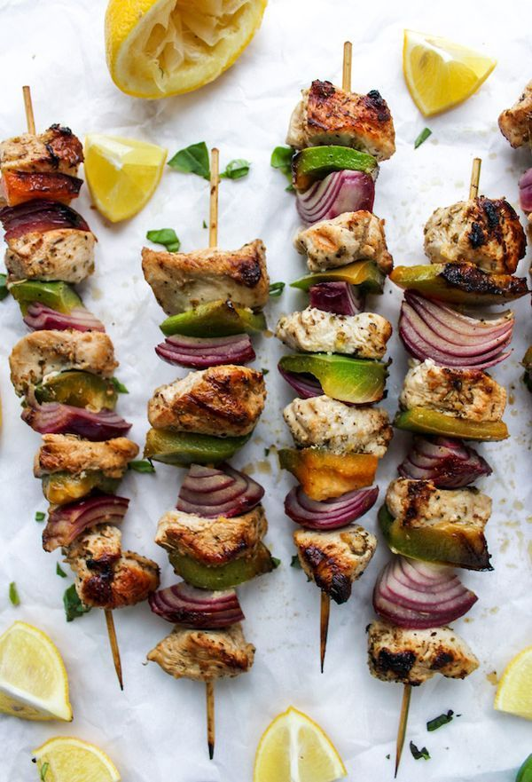 Greek inspired Lemon Chicken Kebabs recipe made on the stove top | Paleo + Whole 30