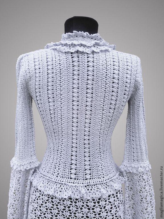 Купить Антуанетта - серый, однотонный, платье, платье вязаное, платье коктейльное, платье крючком