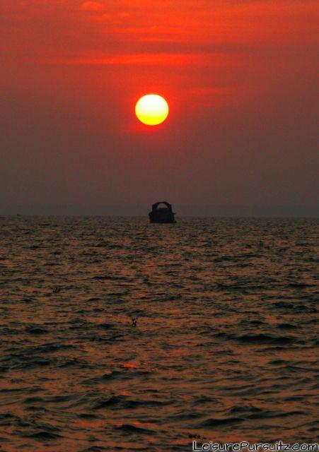 Houseboat against the Sunset @ Kumarakom