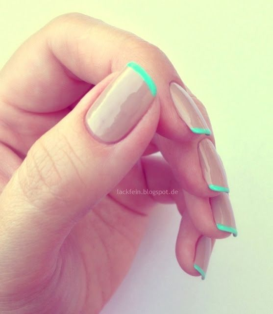 French manicure in a different way