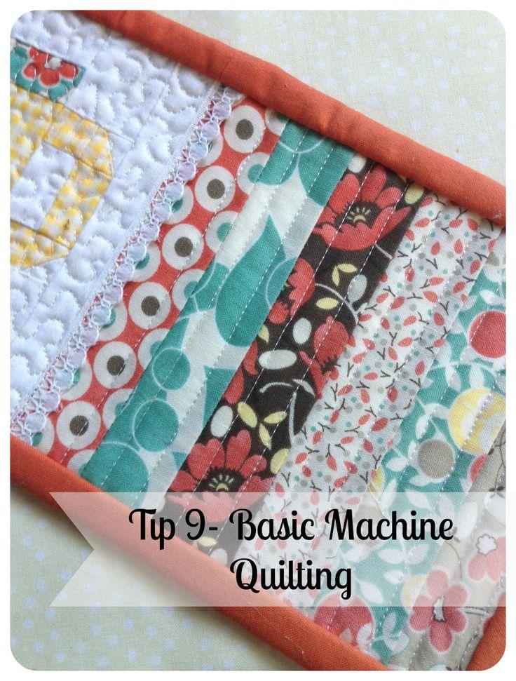 Tip 9- Basic Machine Quilting