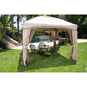Portable Patio Gazebo with Single Roof & Netting, 10' x 10'... When we have a bigger yard