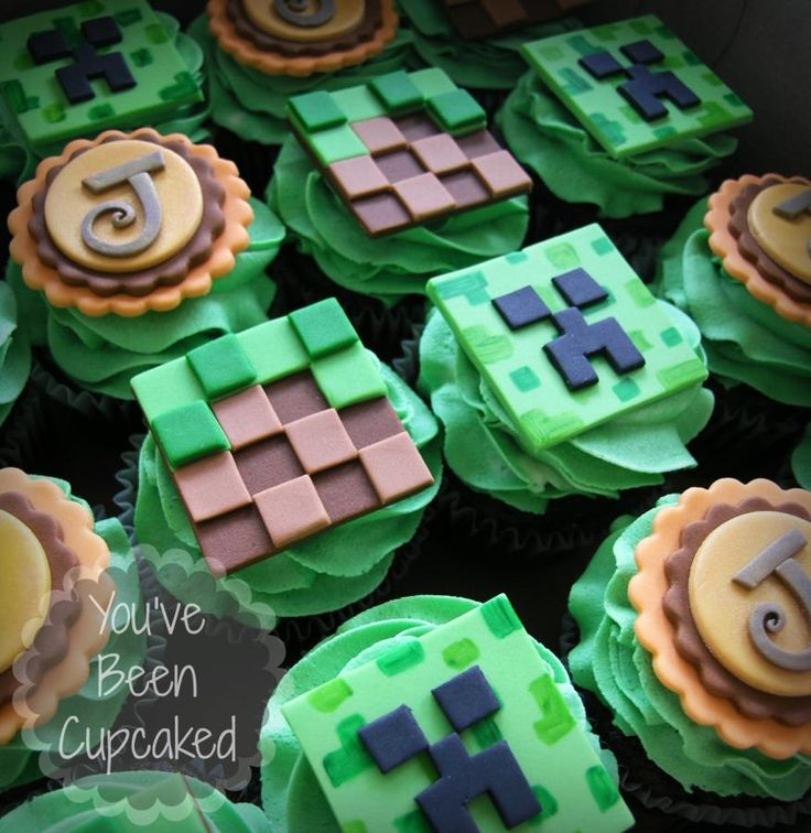 Minecraft Cupcakes www.facebook.com/youvebeencupcaked