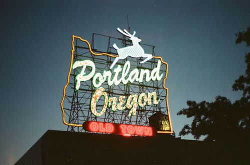 Portland sign on the Burnside Bridge: Artists, Favorit Place, Burnsid Bridges, Creative, Portland Signs, Portland Cities, Cities Guide, City Guides, Portland Oregon