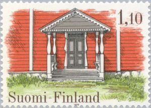 Issued in 1979,Suomi - Porch of Havuselkä House, Kauhajoki