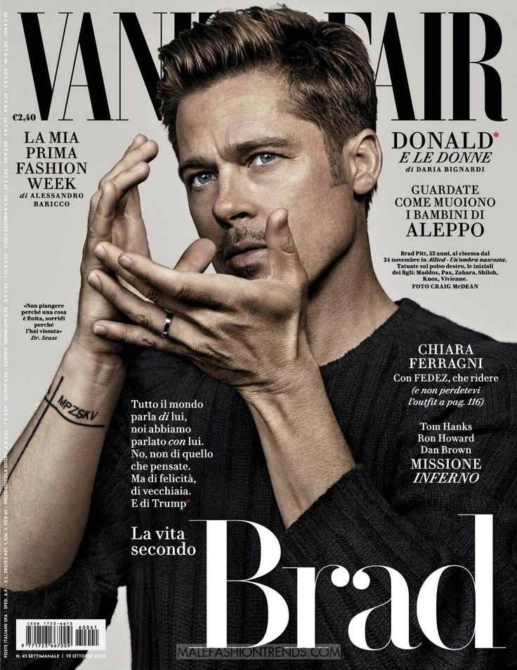 Brad Pitt por Craig Mcdean para Vanity Fair Italia