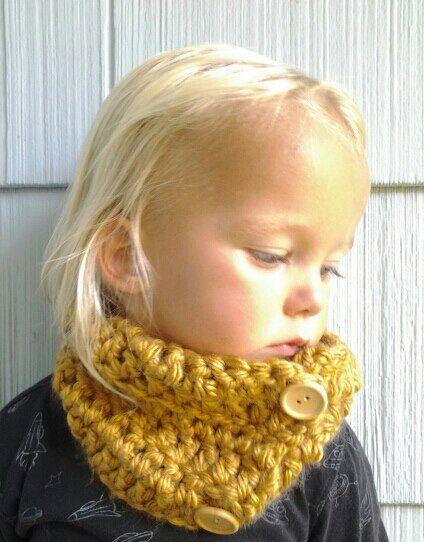 Wool Blend Crochet Cowl. Kids Cowl. Crocheted Scarf Neck Warmer.