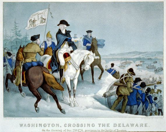 Washington Crossing the Delaware by rgbgrahics on Etsy