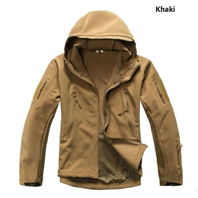 Jacket and Trousers Waterproofs Set Olive Camping Hiking Survival Hooded New
