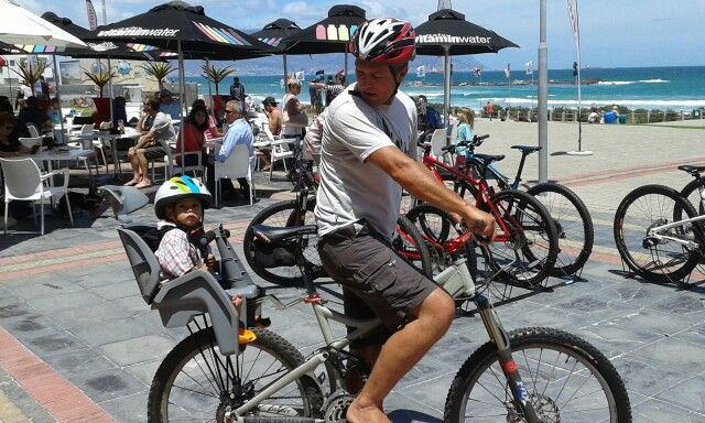 Going for a ride. Big Bay Blouberg Strand.