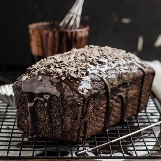 Quadruple Milo Glazed Loaf Cake