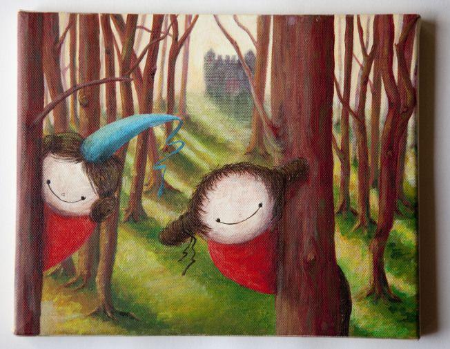 artwork violina and prinsesa